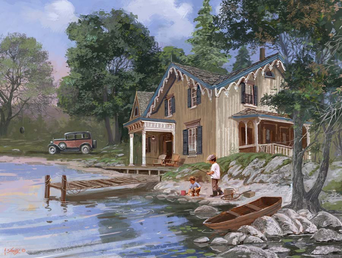 A Day at the Cottage Wall Mural Additional Thumbnail