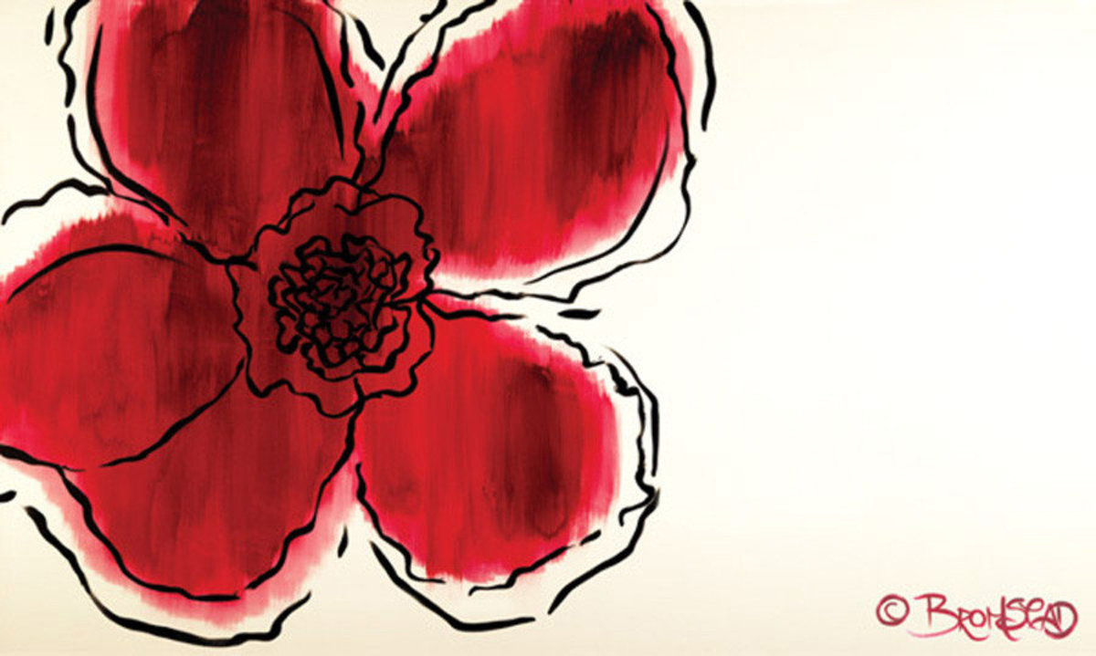 A Flower Without Wall Mural Additional Thumbnail