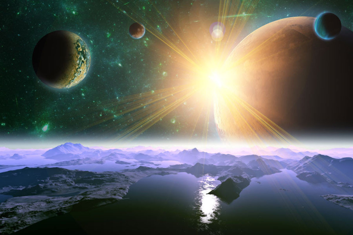 Mysterious Planet Wallpaper Mural Additional Thumbnail