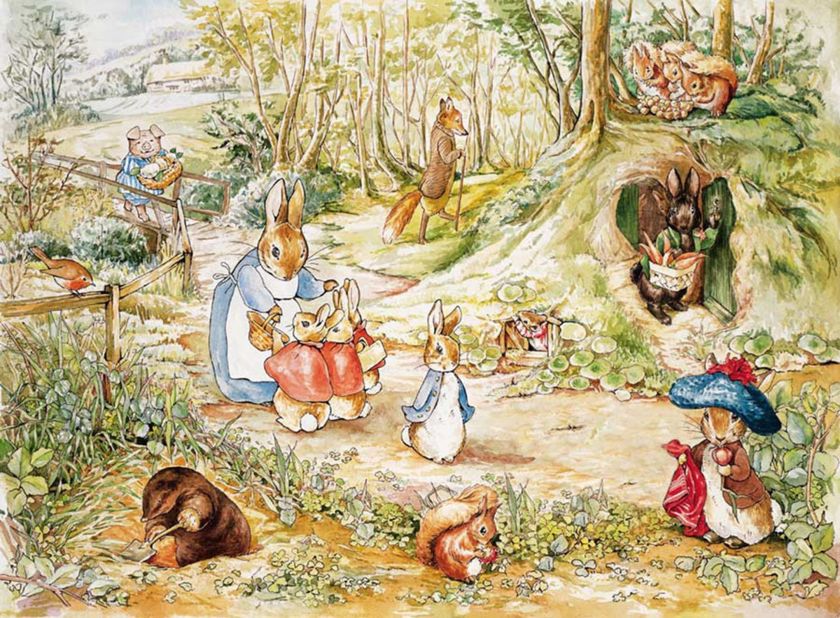 A Walk In The Woods 3 Wall Mural by Beatrix Potter | Murals Your Way
