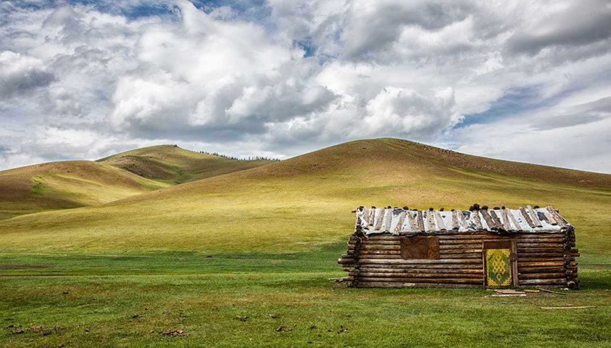 Abandoned Cabin in Mongolia Wall Mural Additional Thumbnail