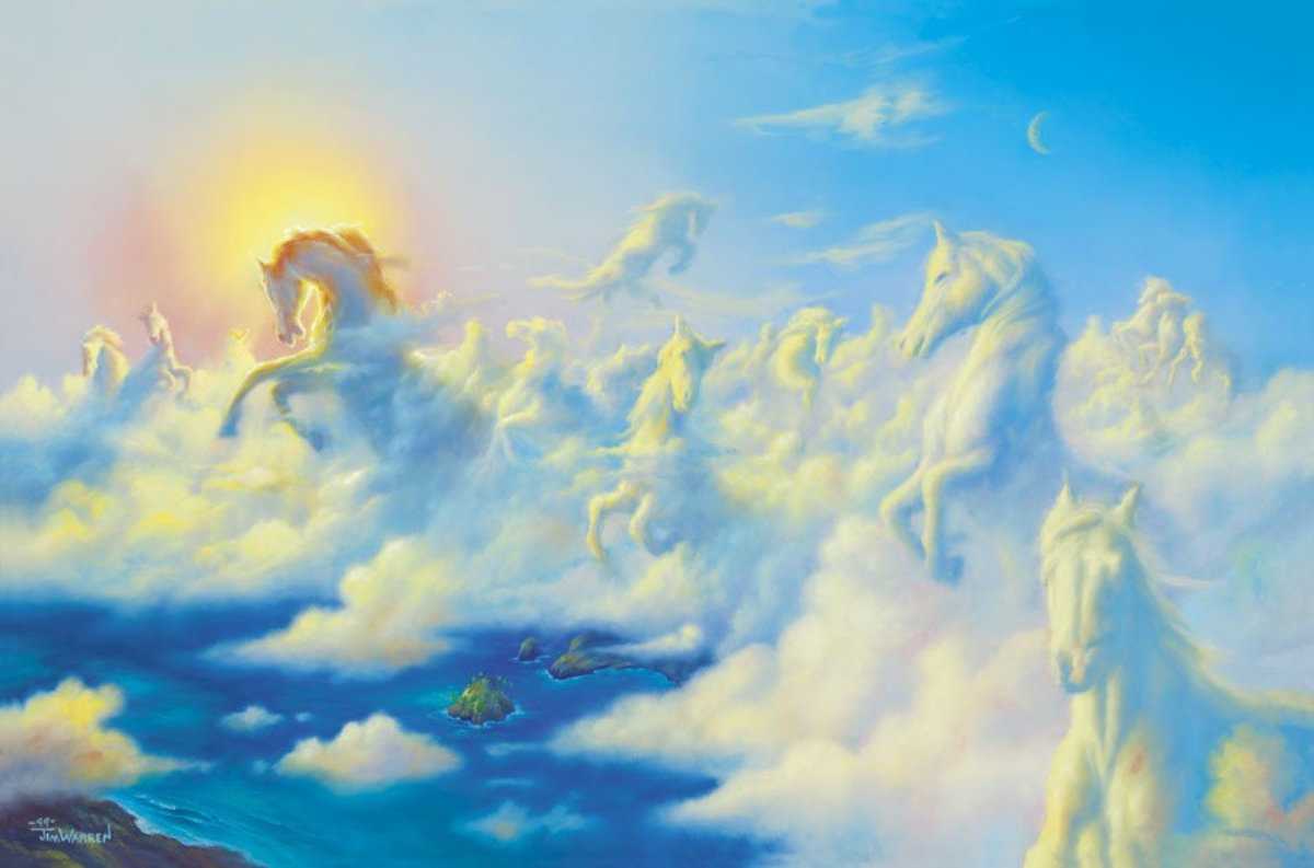 Above The Clouds Mural Wallpaper Sample
