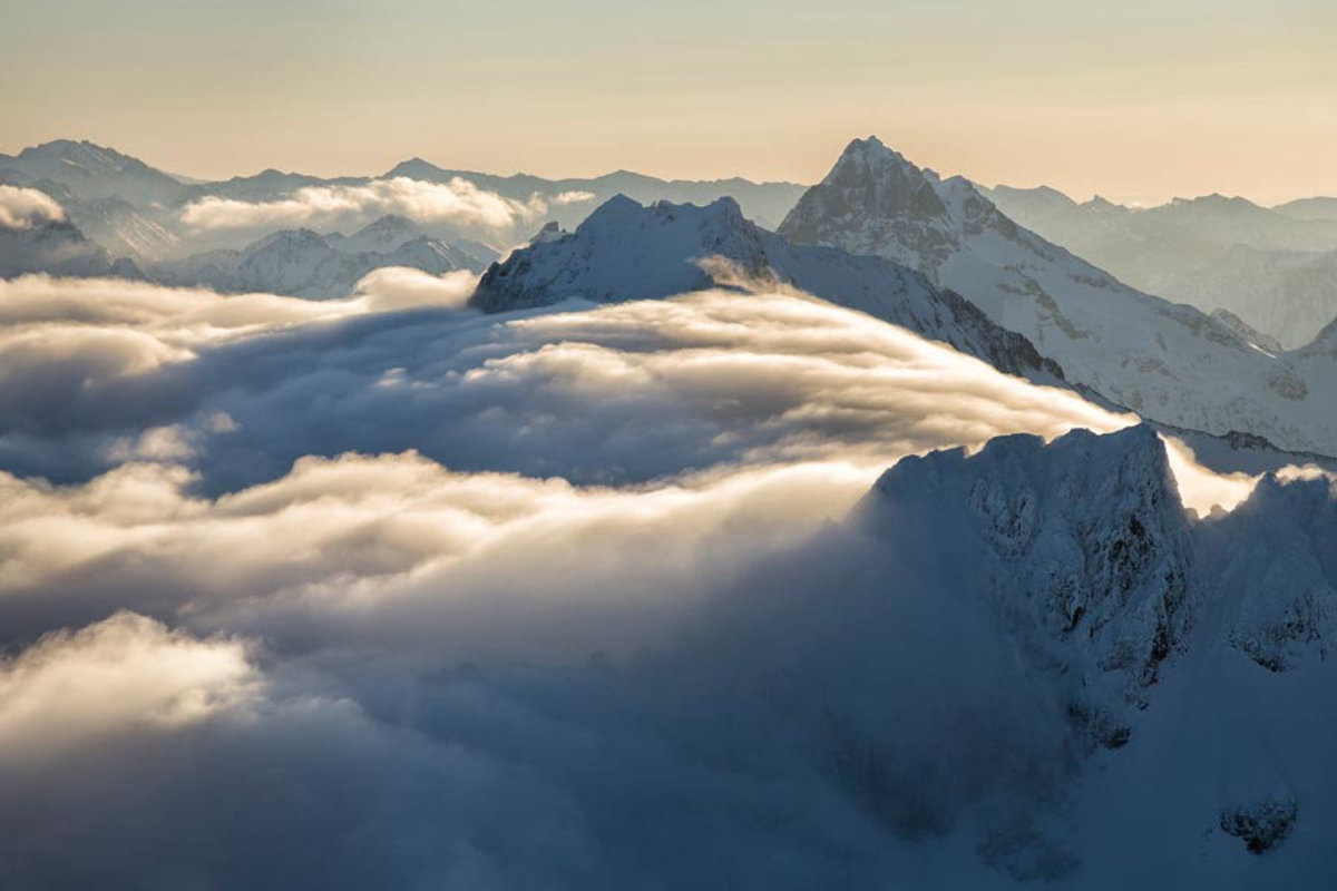 Image for Above the Clouds, North Cascades Wall Mural