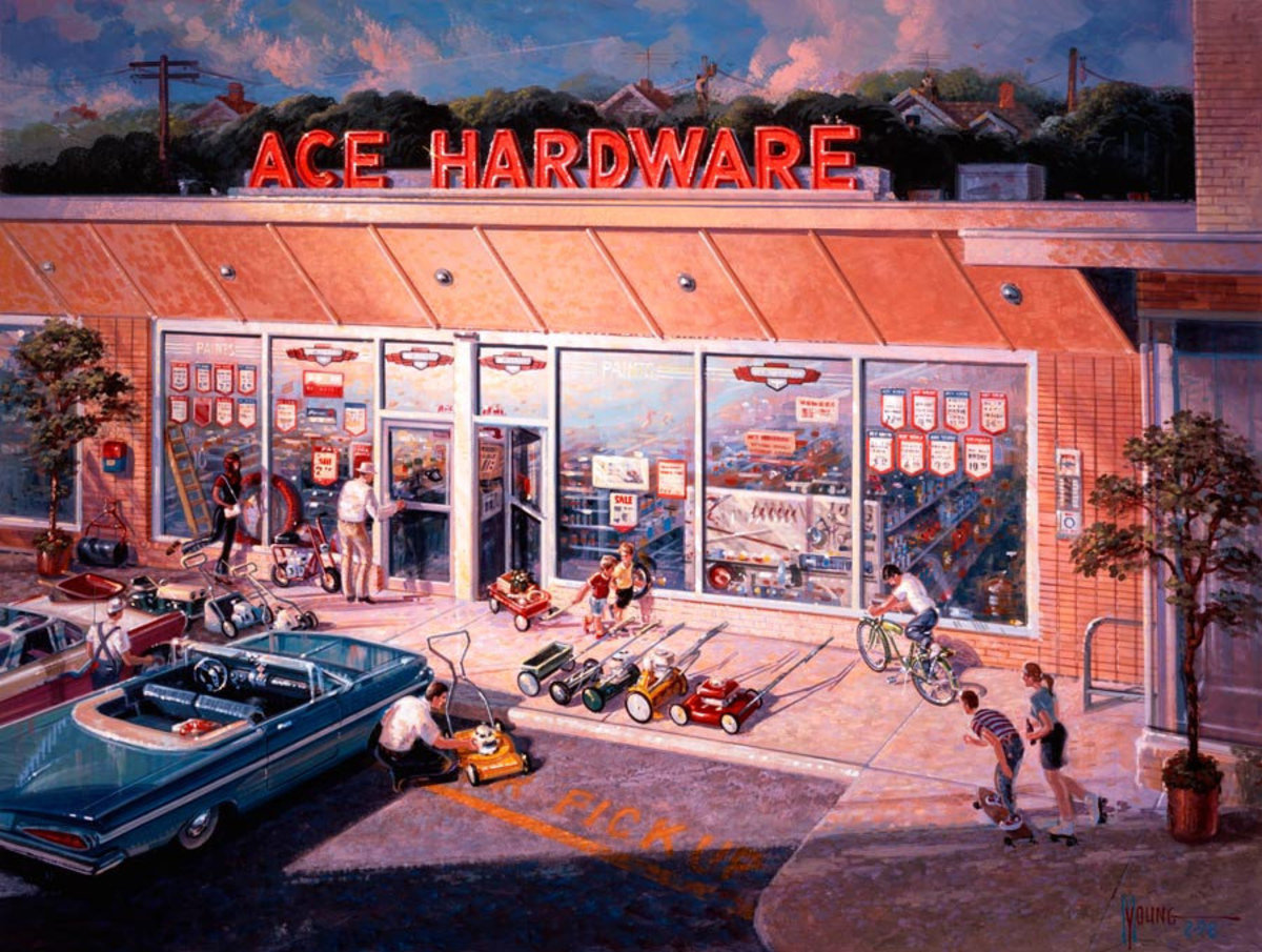 Ace Hardware 60's Wall Mural Sample