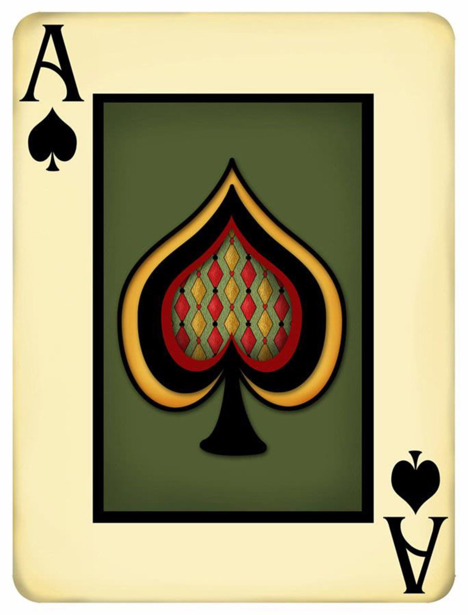 Ace Playing Card Mural Wallpaper Additional Thumbnail