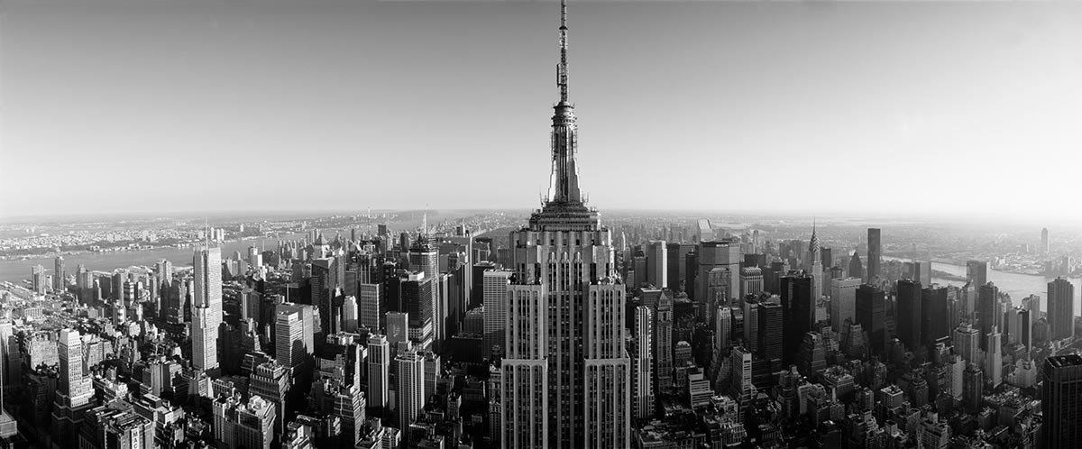 Aerial View Of Empire State Building Wall Mural Sample