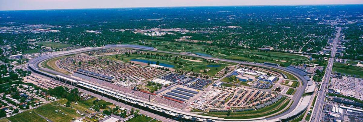 Aerial View Of Indianapolis Motor Speedway Wall Mural Sample