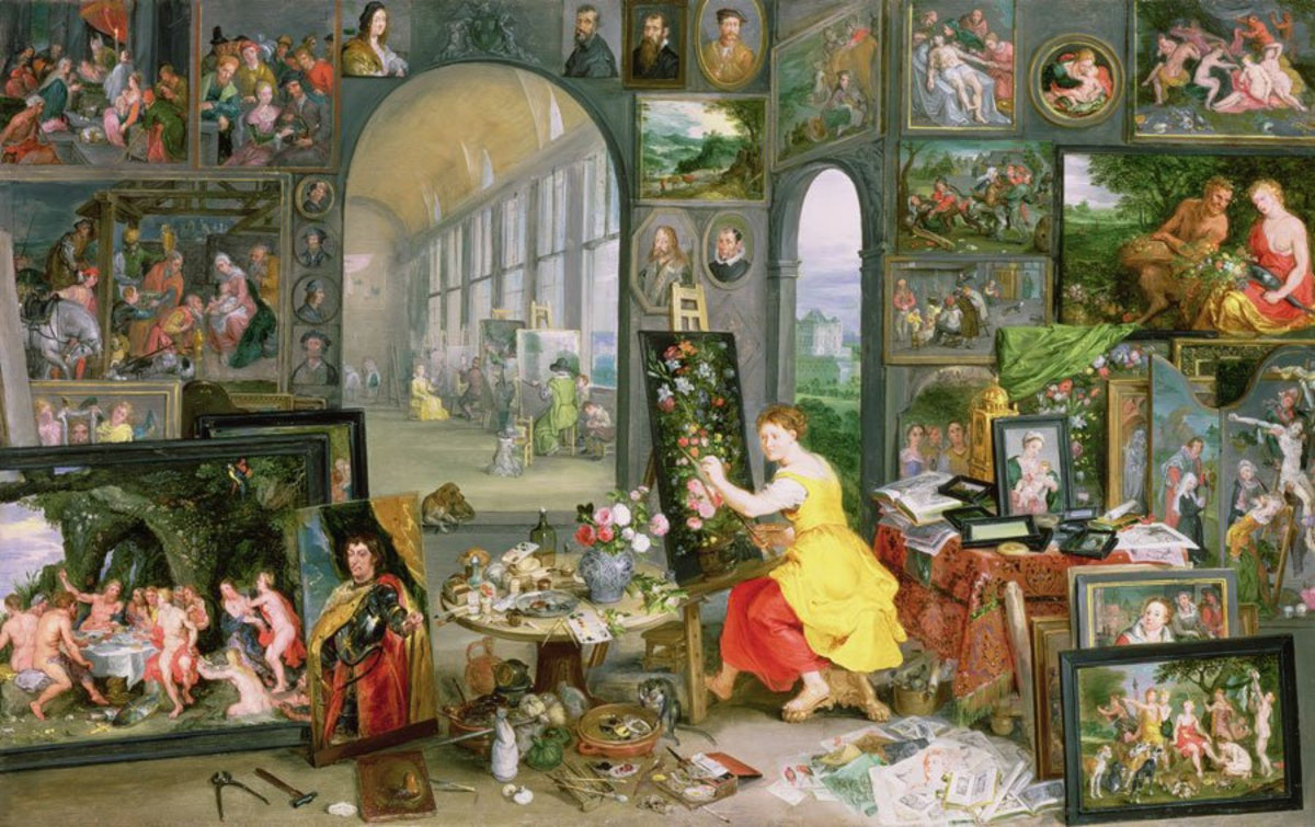Allegory Of Painting Mural Wallpaper Additional Thumbnail