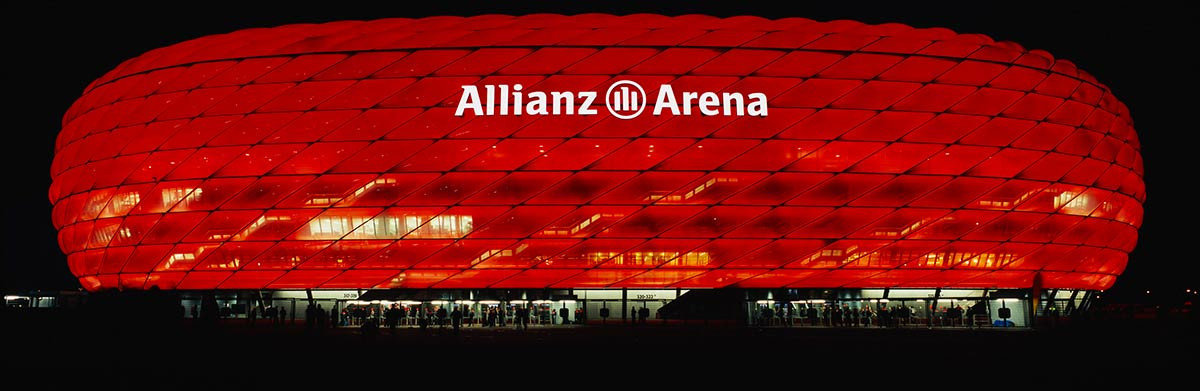 Allianz Areana In Munich At Night