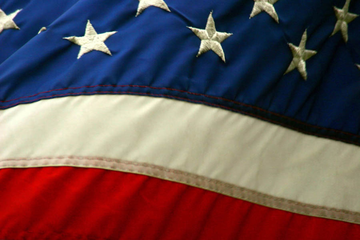 American Flag Blowing in the Wind Mural Wallpaper Additional Thumbnail