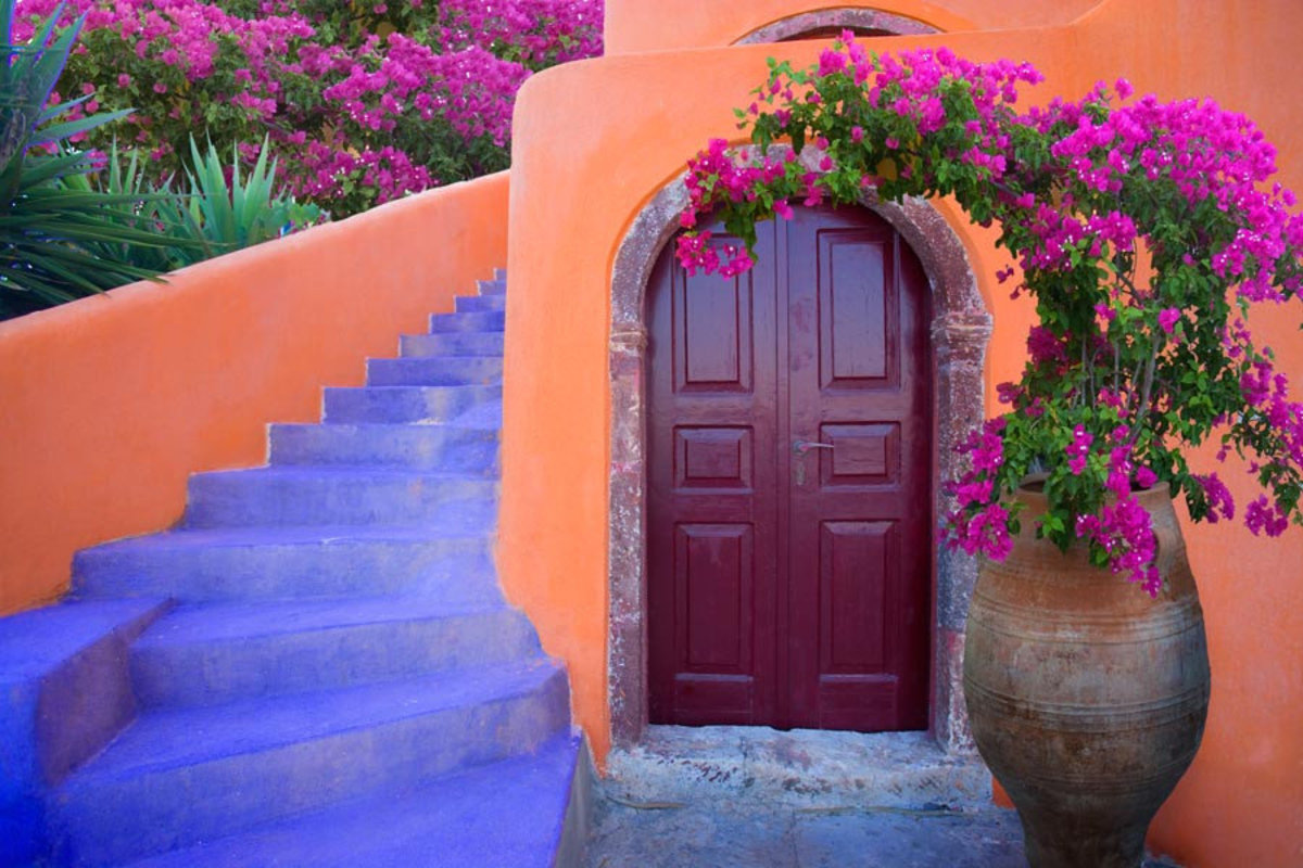 Image for Architectural detail on Santorini Island, Greece