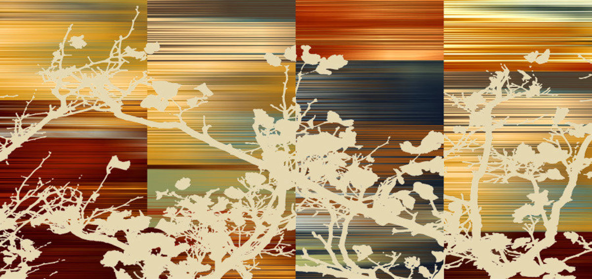 Image for Asian Blossoms - Tan