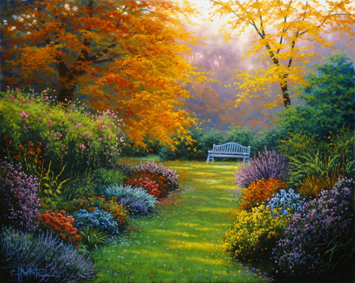 Image for Autumn Garden Wall Mural