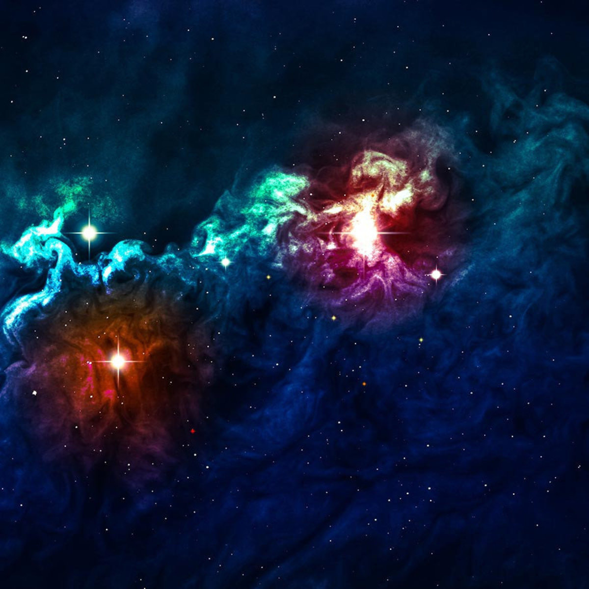 beautiful space backgrounds filled with stars, stardust, and colorful nebula Additional Thumbnail