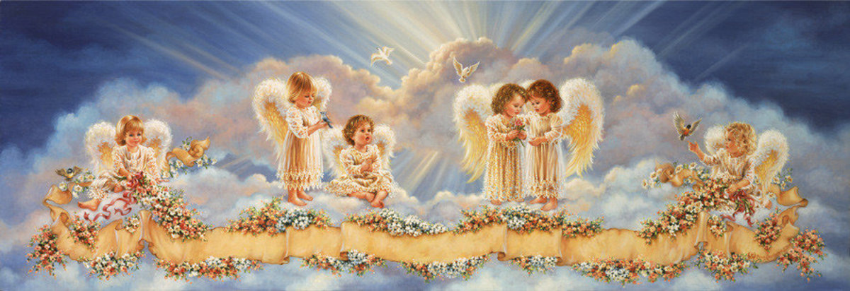Bless Our Heavenly Home Mural Wallpaper