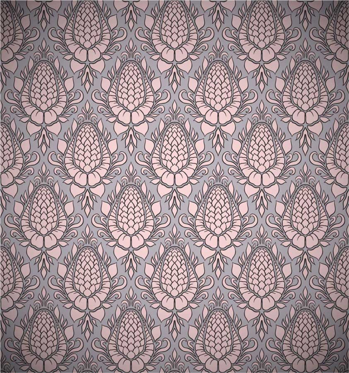 Blossom Damask with subtle violet and rose hues Additional Thumbnail