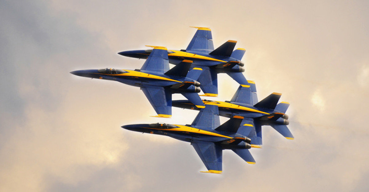 Blue Angels In Clouds Wallpaper Mural Additional Thumbnail