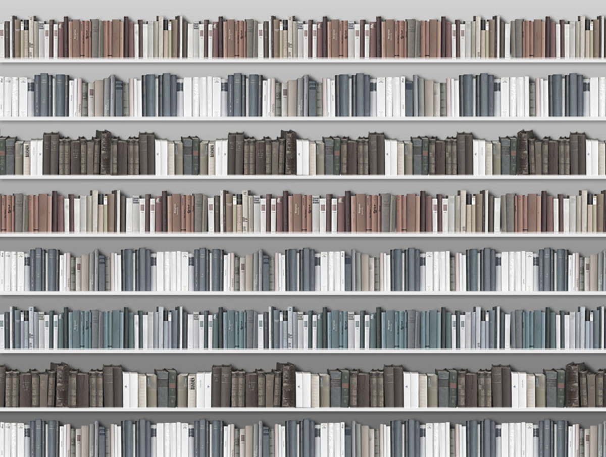 Book Collection Wallpaper Mural Sample