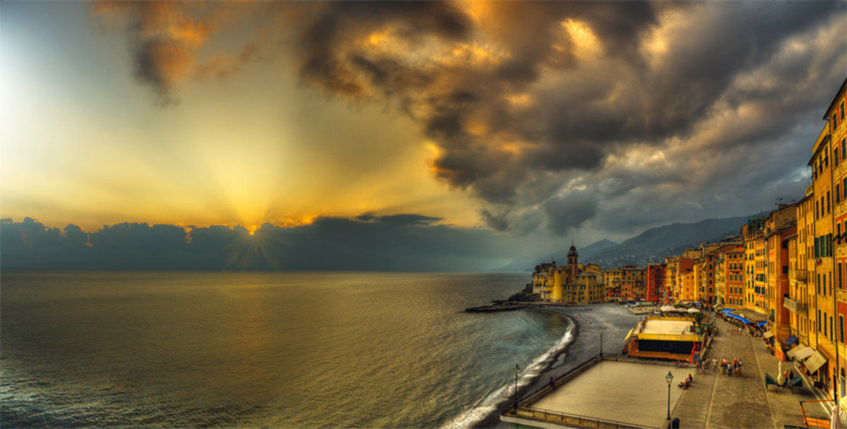 Image for Camogli - Storm At Sunset
