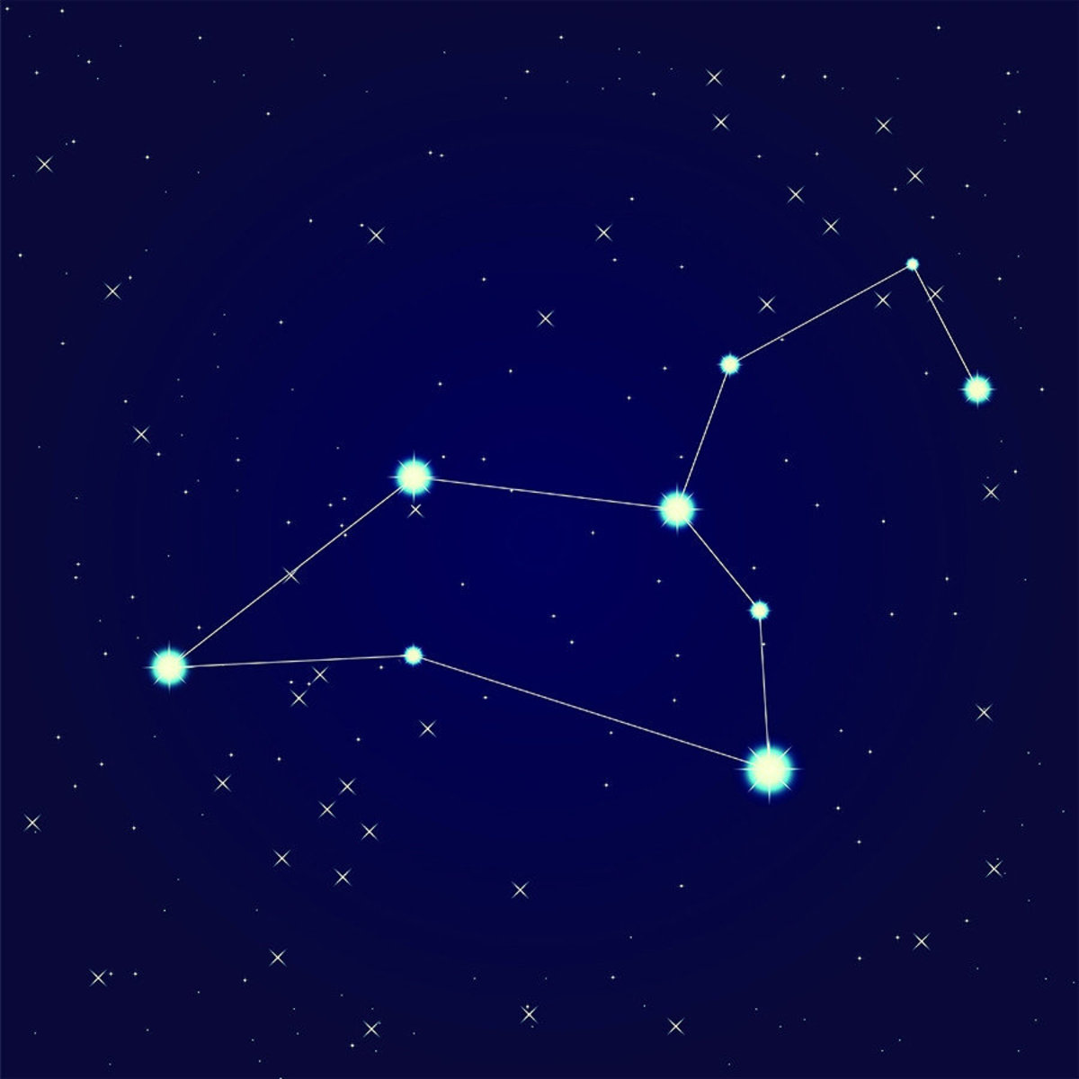 Cancer Constellation Wall Mural Sample