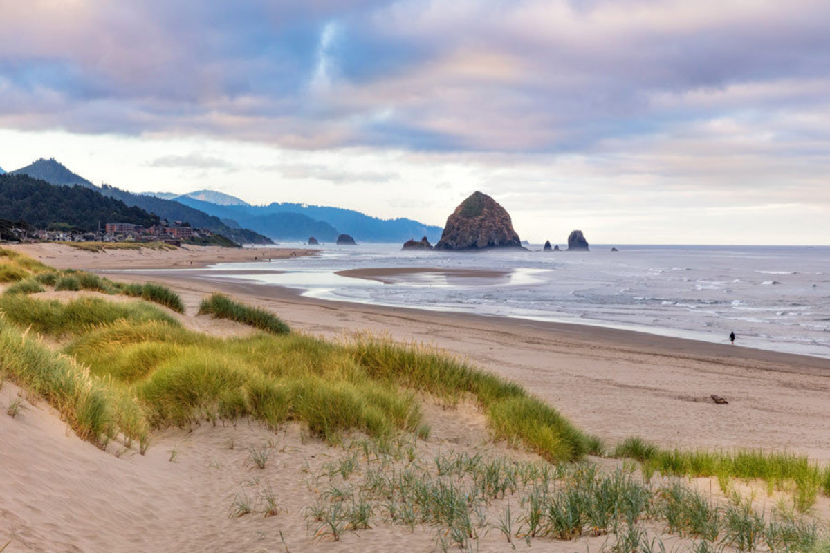 Cannon Beach Sunrise Wallpaper Mural Sample