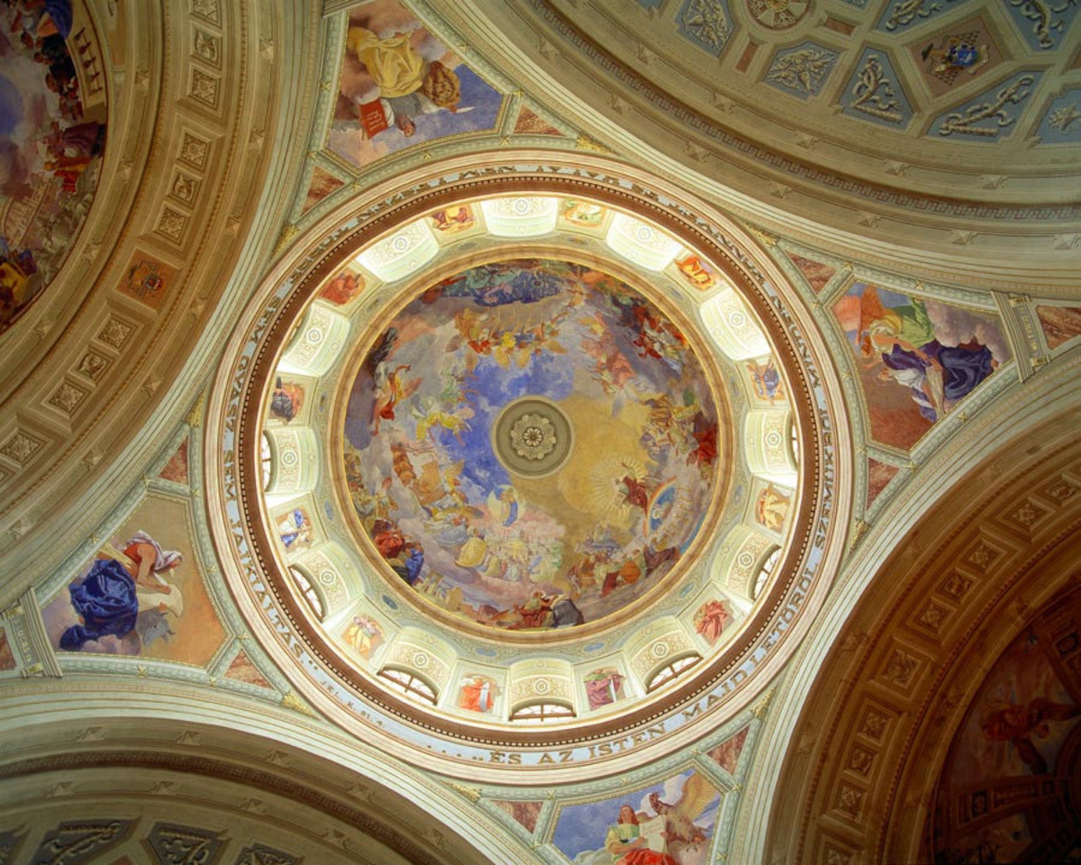Ceiling of Cathedral of Eger, Hungary  Wall Mural Additional Thumbnail