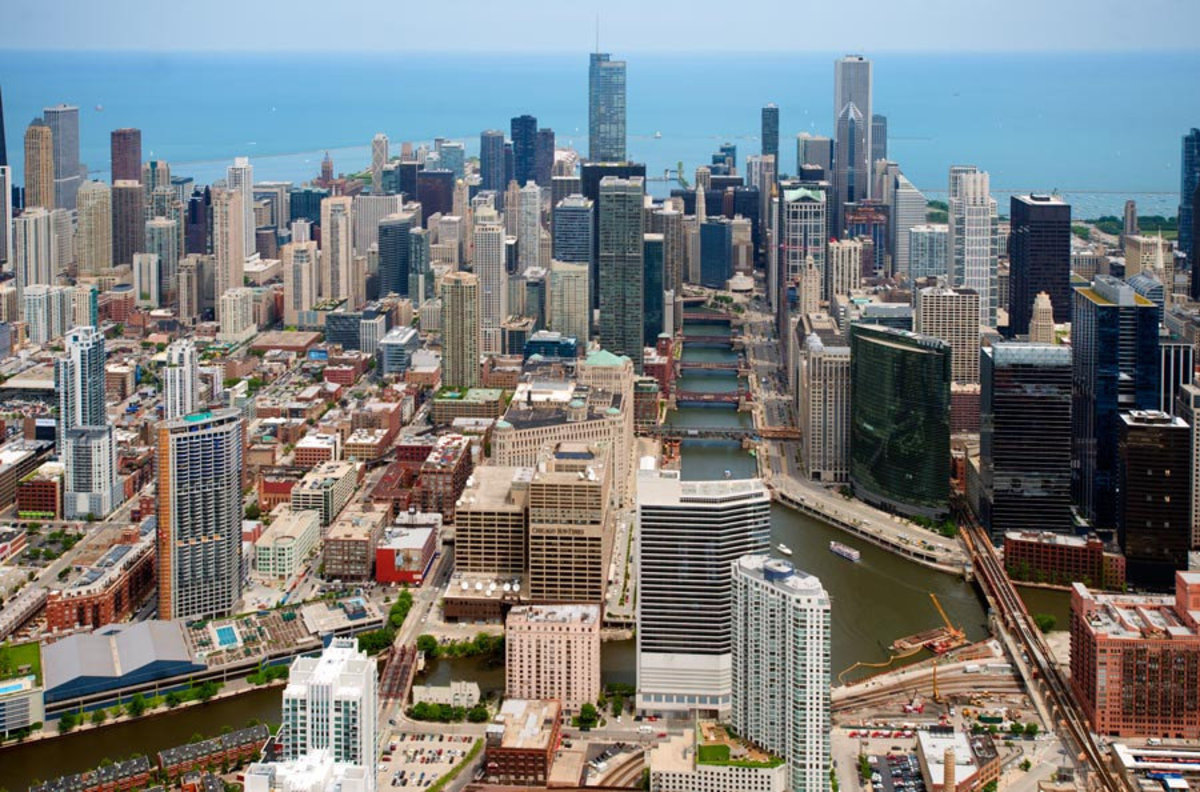 Image for Chicago River - Aerial View