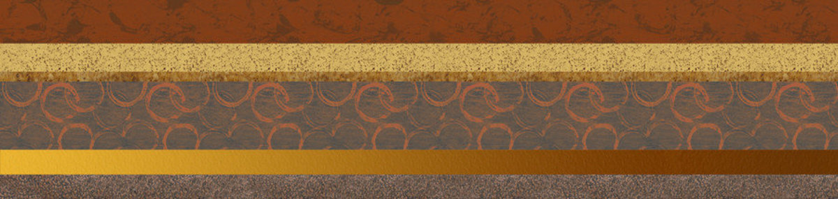 Circles In The Sand 1 - Panoramic Wall Mural Sample