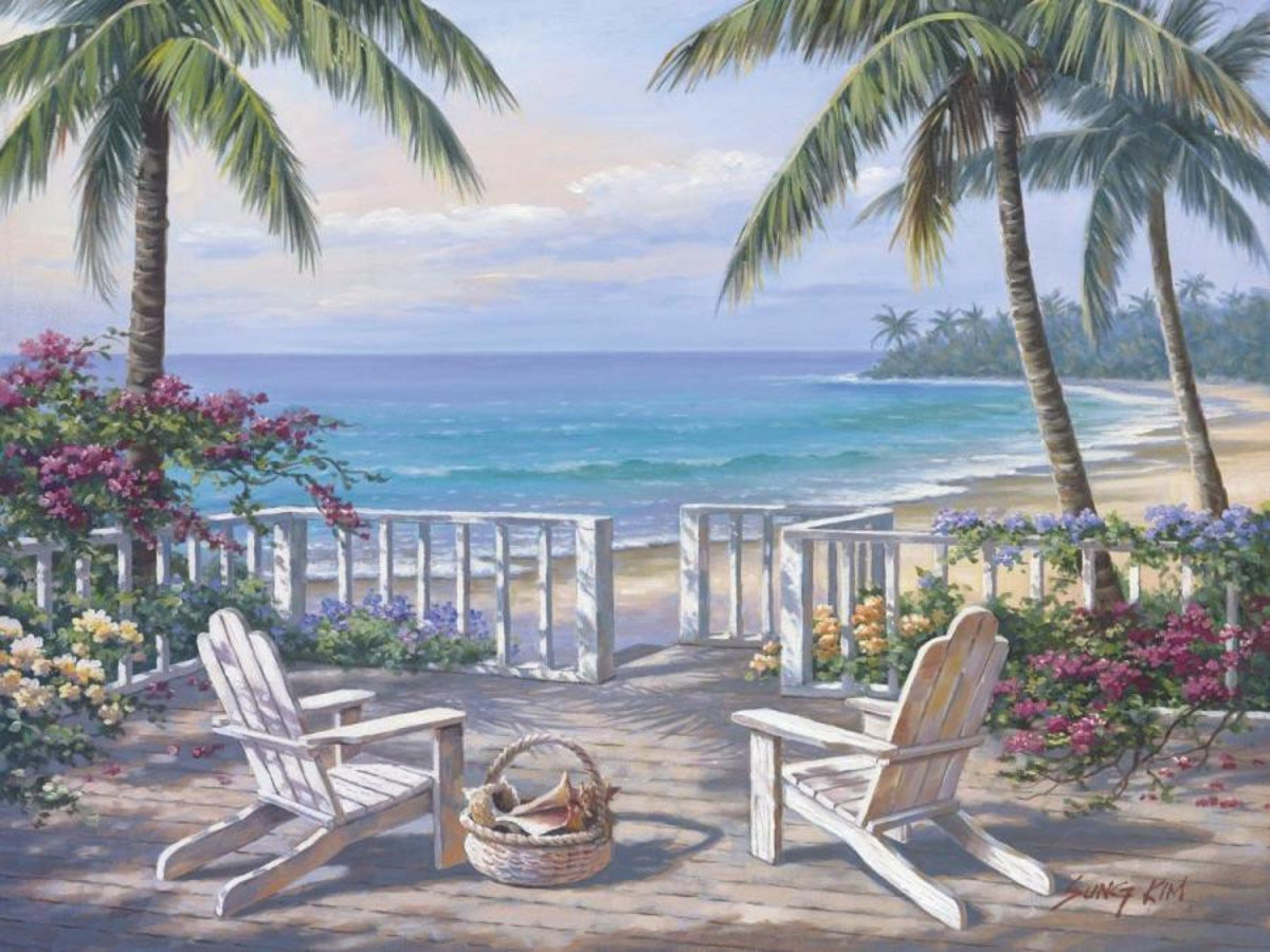 Coastal View Wallpaper Mural