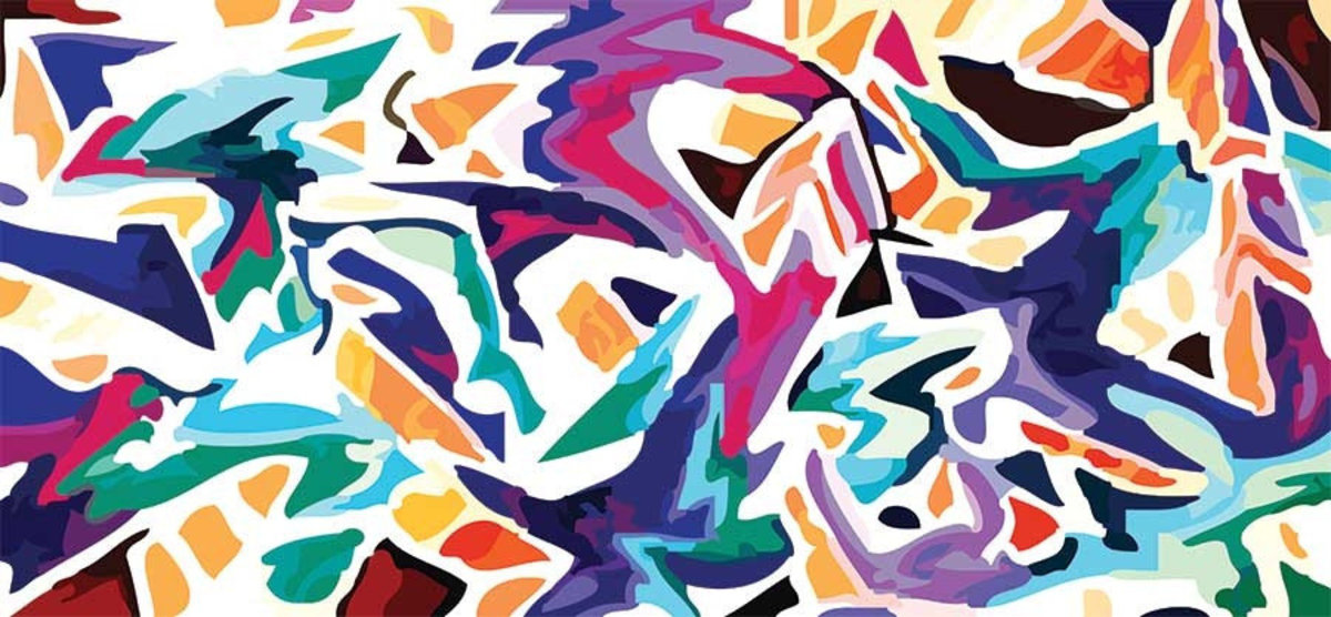 Colorful abstract art in a graffiti style Sample