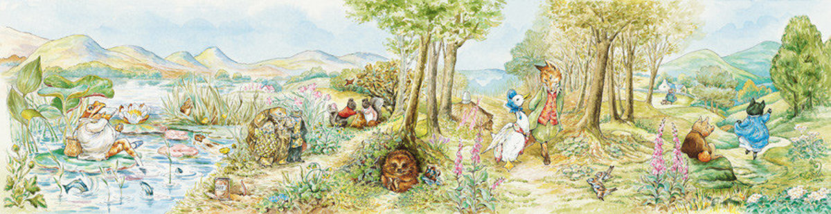 Country Landscape I Wall Mural