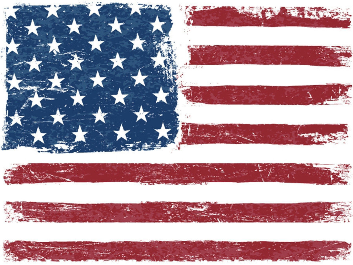 Distressed American flag with a vintage and grungy texture Additional Thumbnail