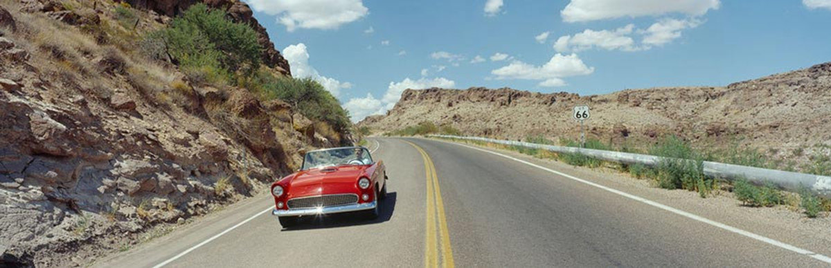 Driving Down Route 66 Wall Mural Sample