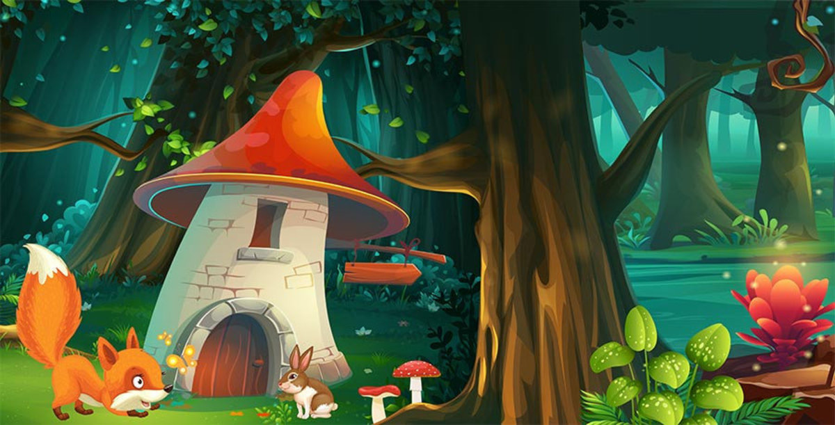 Enchanted Forest #1 Wall Mural Sample