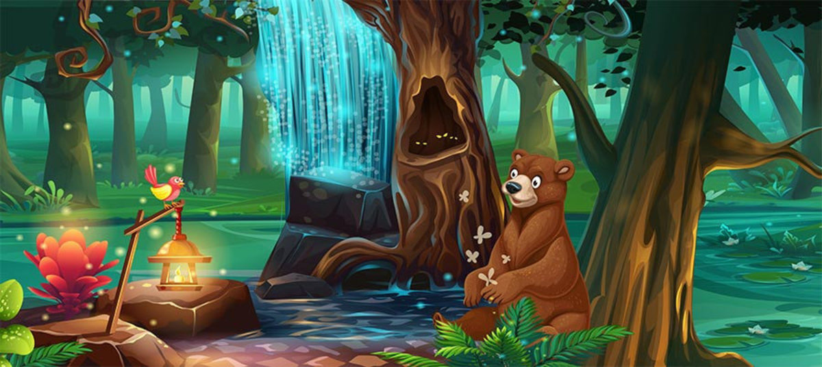 Enchanted Forest #2 Wall Mural Sample