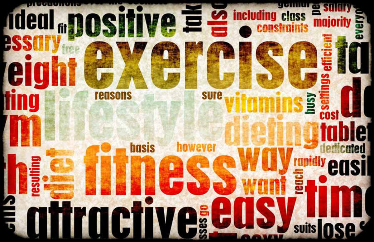 Exercise Wordcloud Mural Wallpaper Additional Thumbnail