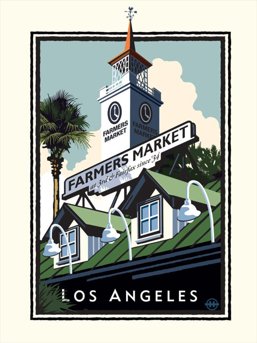 Farmers Market LA Wallpaper Mural Sample