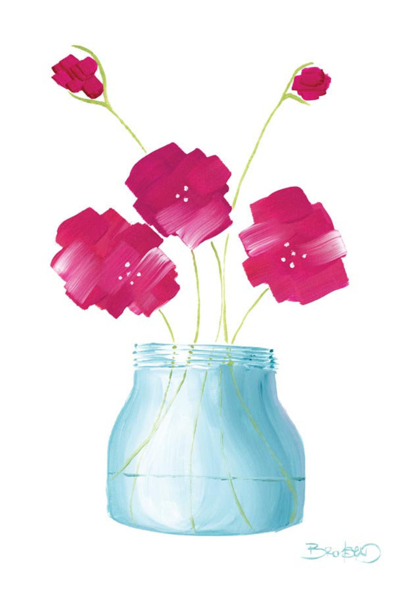 Flowers in a Jar 1 Wall Mural Additional Thumbnail