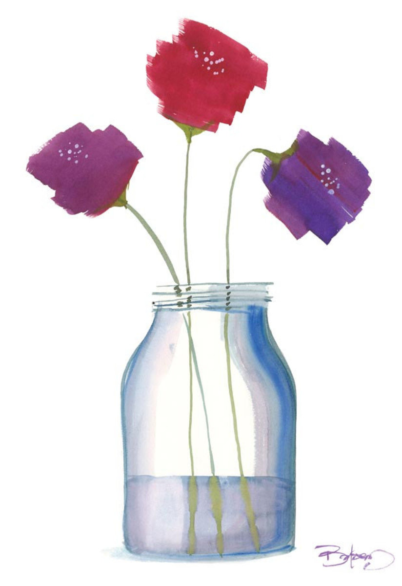 Flowers in a Jar 7 Wallpaper Mural Additional Thumbnail