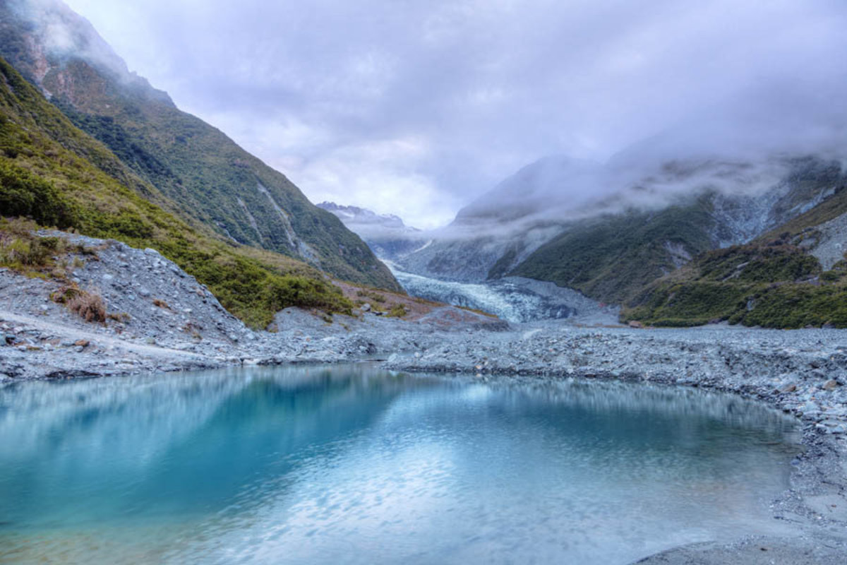 Fox Glacier in New Zealand Wall Mural Sample