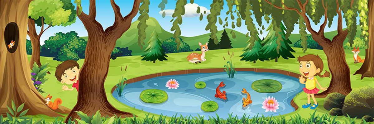 Friendly Forest #1 Wall Mural Sample