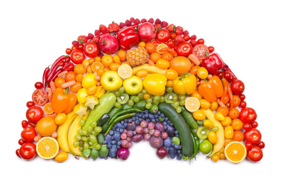 Fruit And Vegetable Rainbow Wall Mural Additional Thumbnail