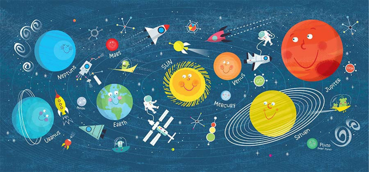 Fun Solar System Mural Wallpaper Additional Thumbnail