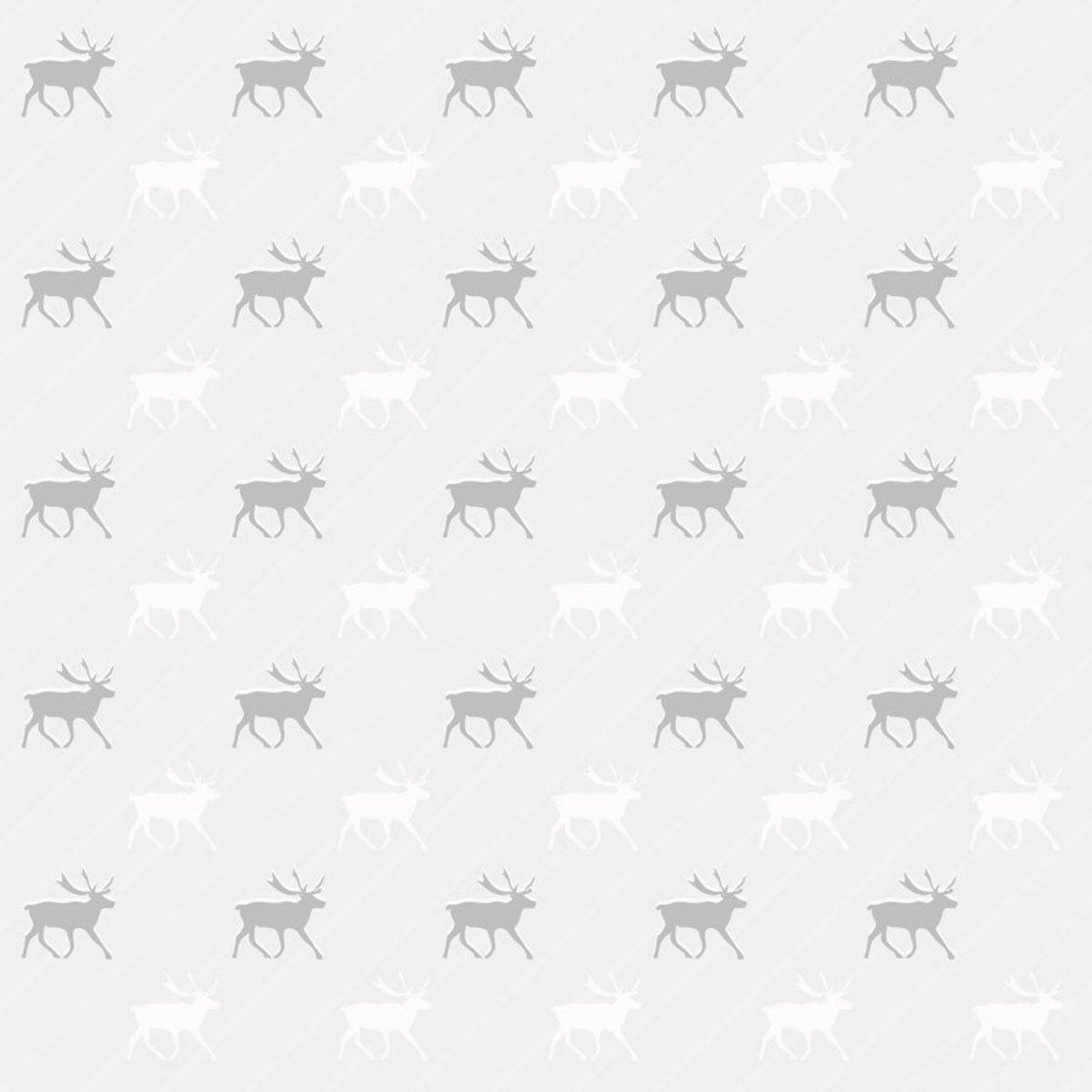 Gray And White Reindeer Pattern