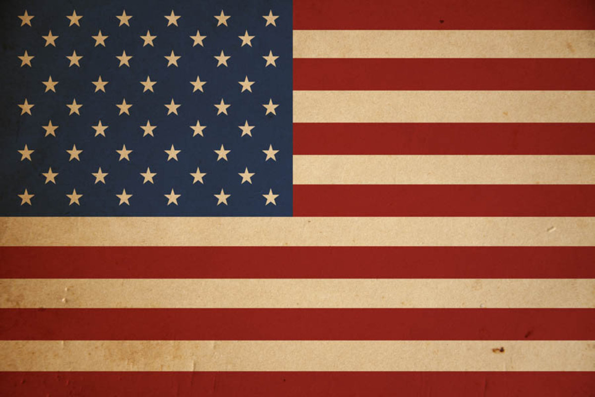 American flag wallpaper with a grunge texture background Additional Thumbnail