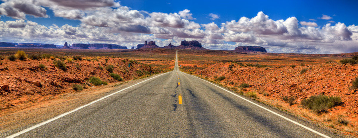 Highway To Monument Valley Wall Mural Sample
