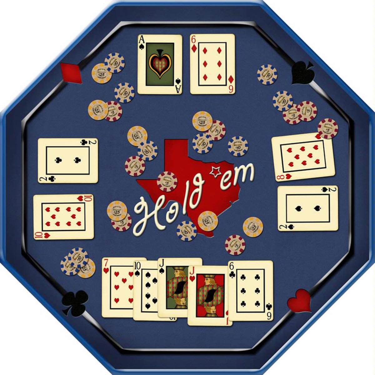Hold'em Table Wall Mural Sample