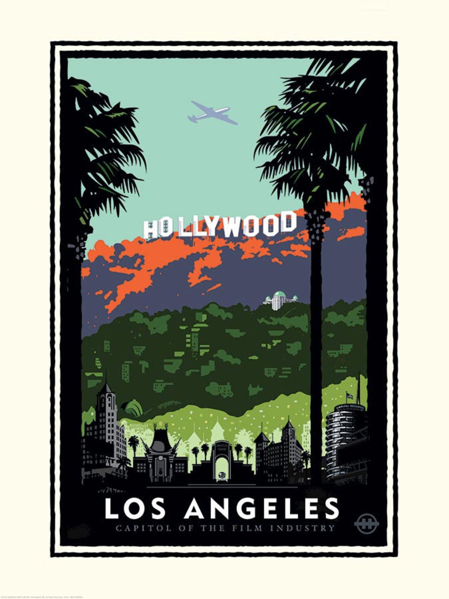 Hollywood Sign Mural Wallpaper