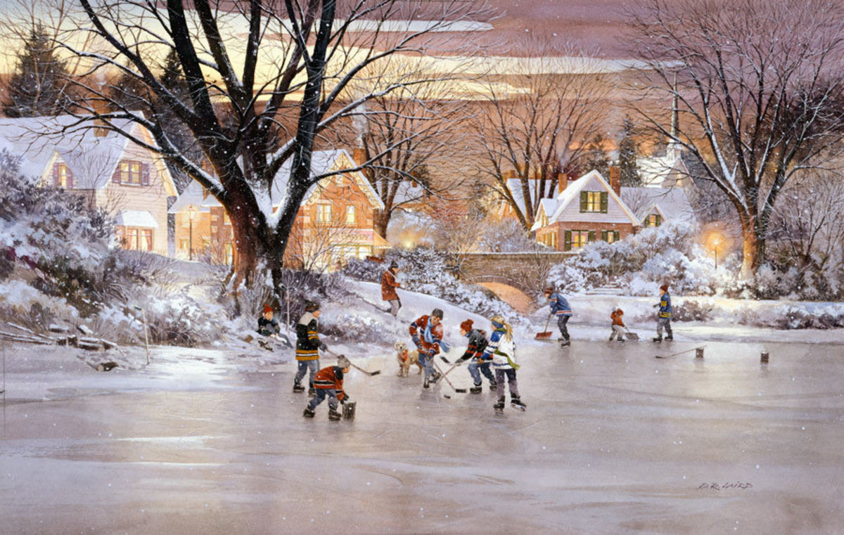Home Town Hockey Mural Wallpaper Additional Thumbnail