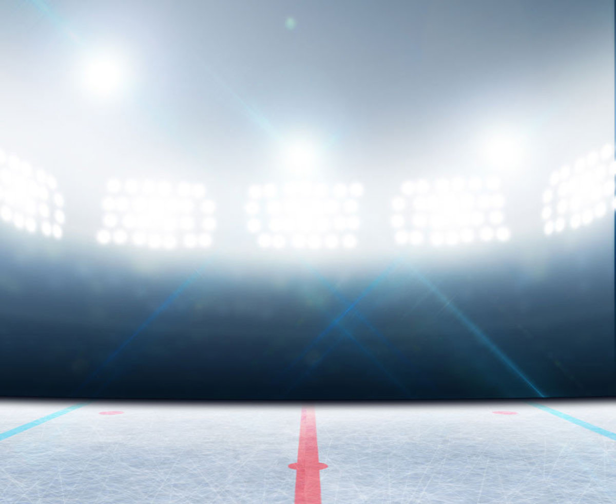 Ice Hockey Under The Lights Wall Mural